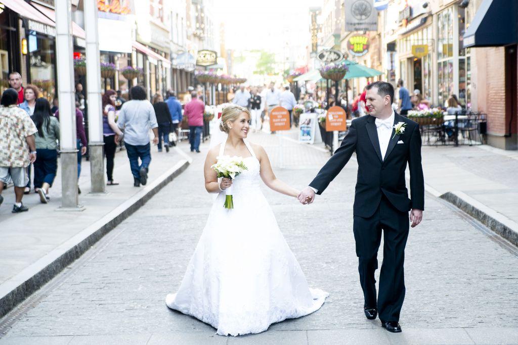 Wedding day on East Fourth Street